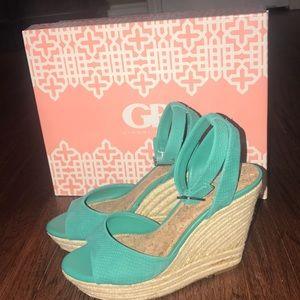 Gianni Bini Be-True wedge sandals